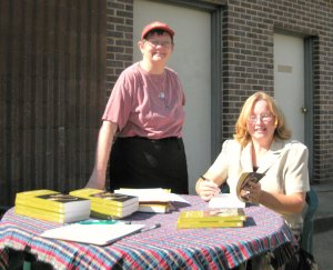 My friend Susan at my first book signing.