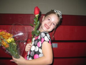 My daughter when she was in the third grade. she is a natural when it comes to confidence.