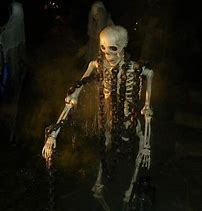 skeleton in chains