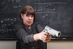 teacher with a gun